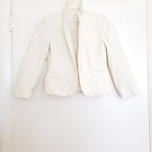 🎀Ann Taylor LOFT Cotton and Spandex White Blazer